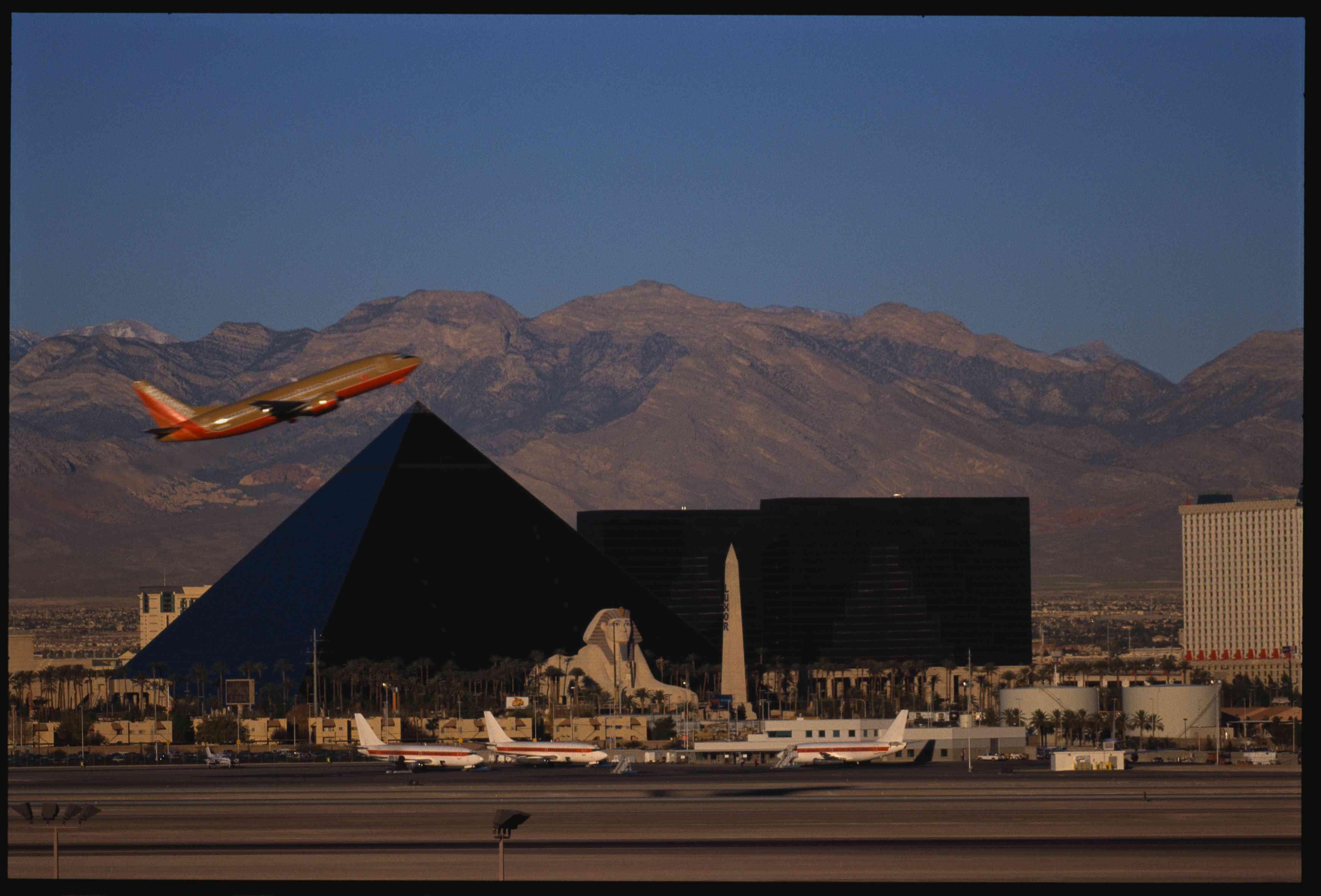 McCarran International Airport and Luxor Hotel