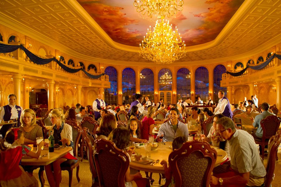 Diners at Disney World restaurant