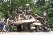 Alice in Wonderland Sculpture in Central Park