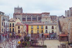 Adolfo Suárez square in Avila, Spain