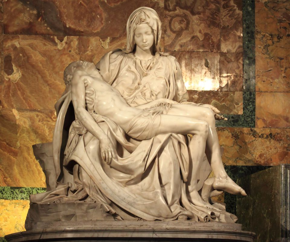 Michelangelo's Pieta at Saint Peter's Basilica