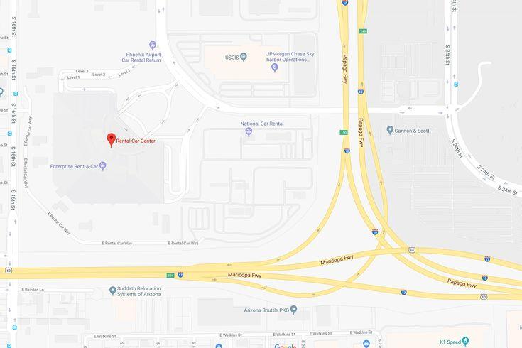 Phoenix Airport Rental Car Center Address / Directions