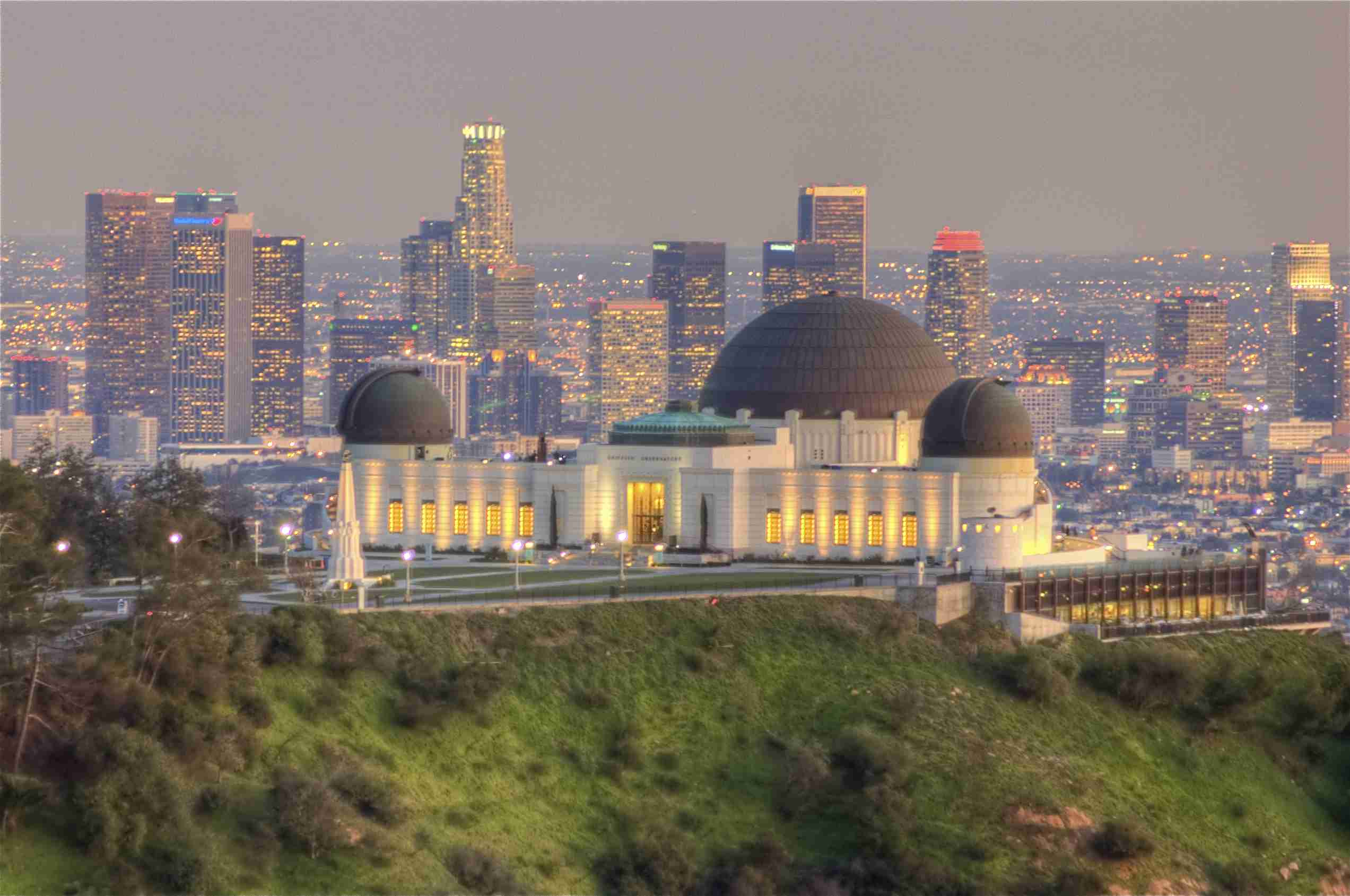 Downtown Los Angeles and the Griffith Obesrvatory