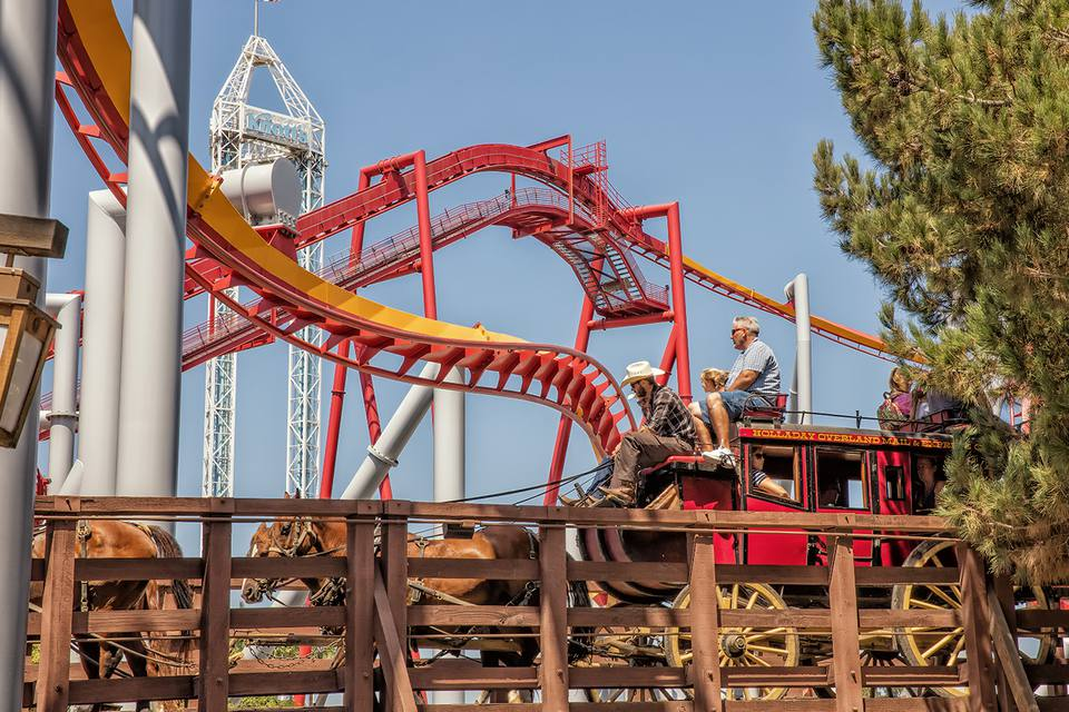 At Knott's Berry Farm You Can Ride on a Stagecoach - or a Roller Coaster