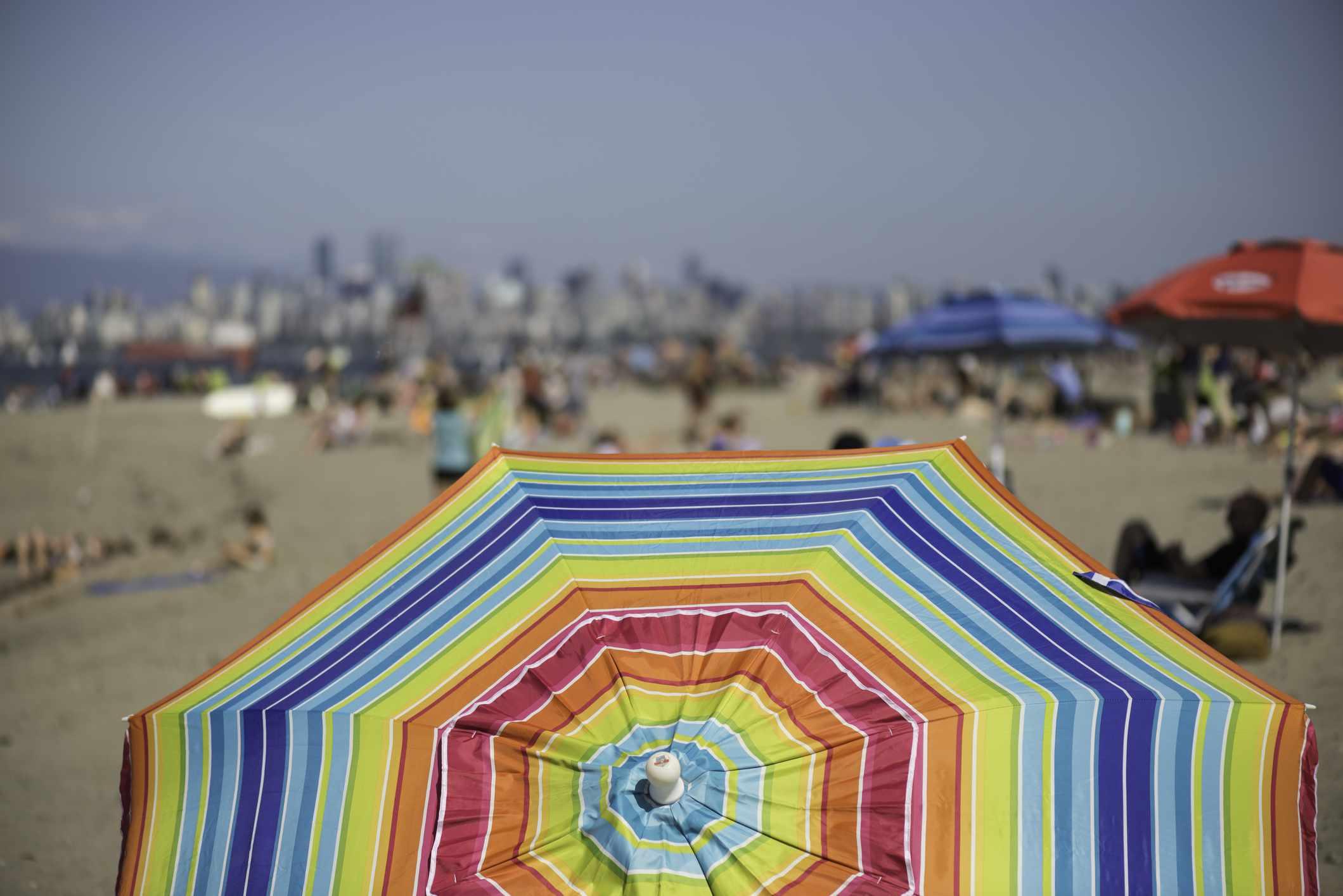 Beach umbrella at Spanish Banks, Vancouver