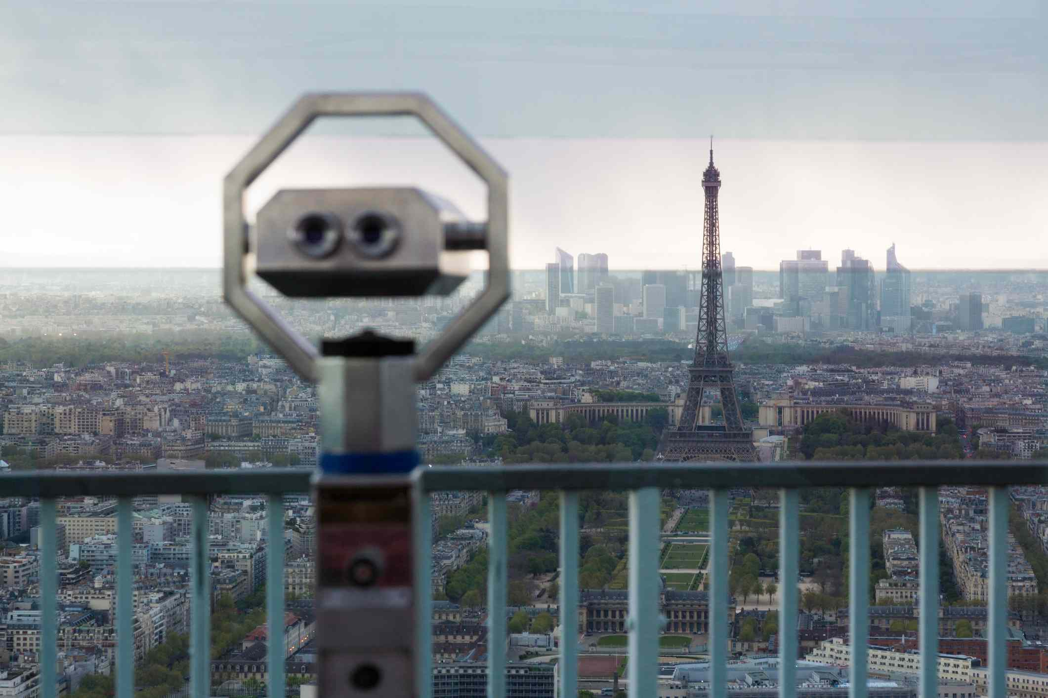 Observation deck overviewing Paris from Tour Montparnasse