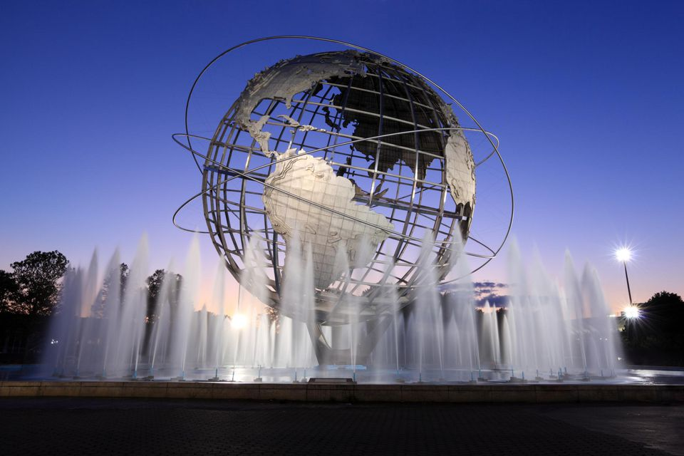 The Unisphere in Flushing Meadows, Queens.