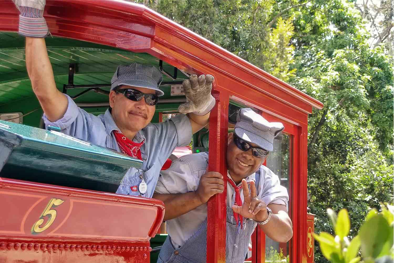 Engineers on the Disneyland Railroad