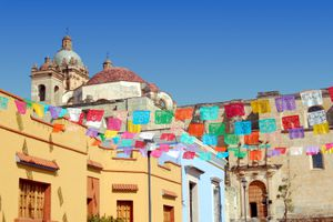 Oaxaca City with Santo Domingo church