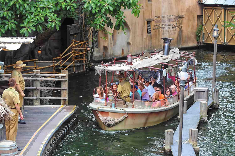 Jungle Cruise Boat at Disneyland