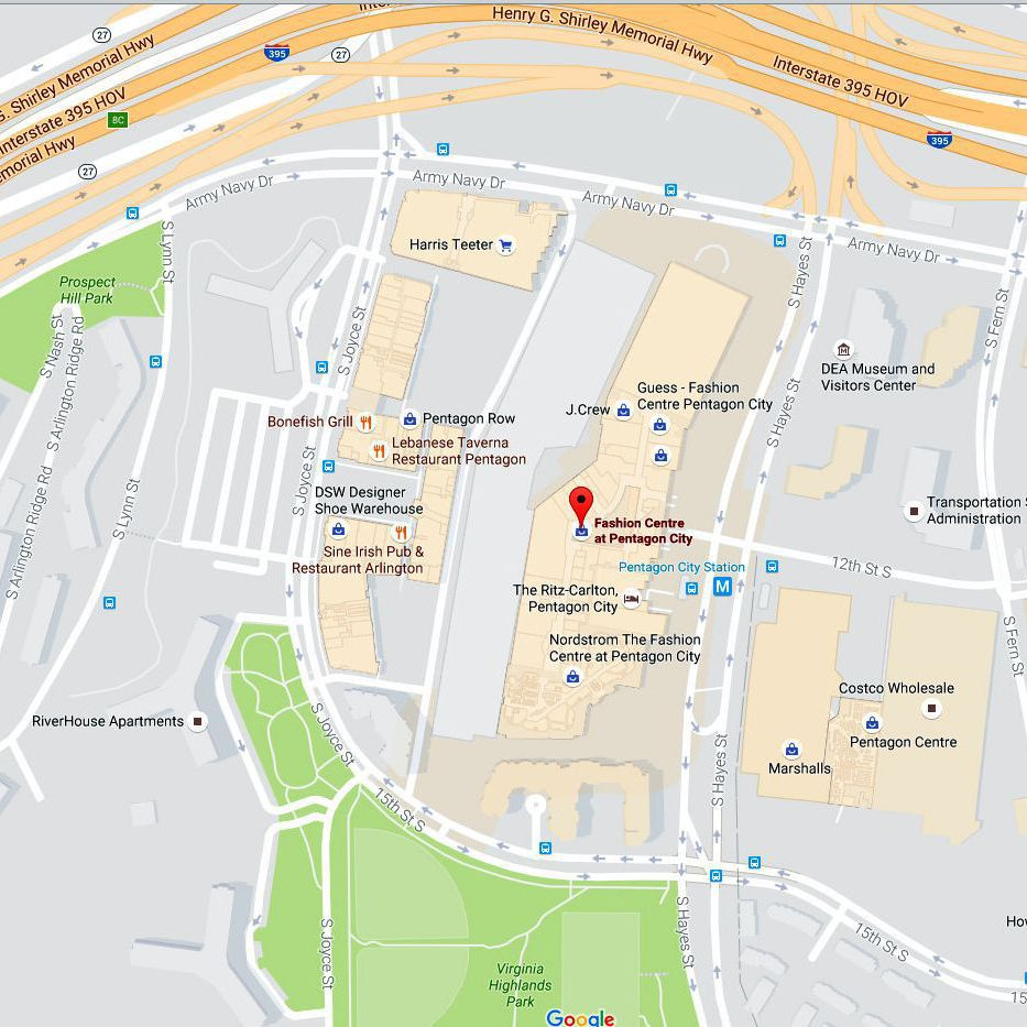 Maps and Directions to The Pentagon & Pentagon City Mall