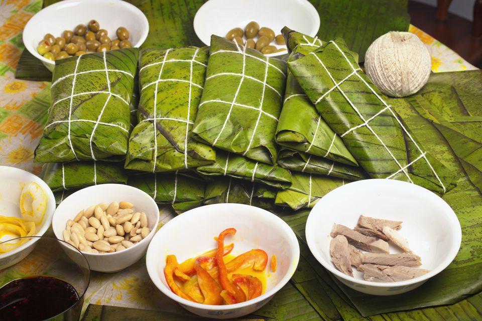 Making Hallacas - Venezuelan Christmas traditional food