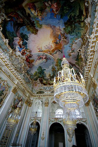 Inside of the Nymphenburg Palace, Munich, Germany