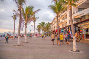 People walking along Malecon