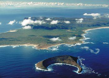 Aerial View Lehua and Niihau