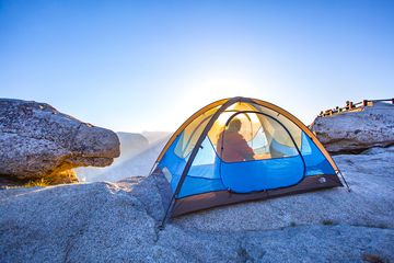 Tent Against Blue Sky Yosemite National Park