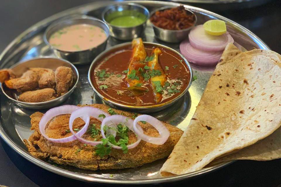 Fish thali.
