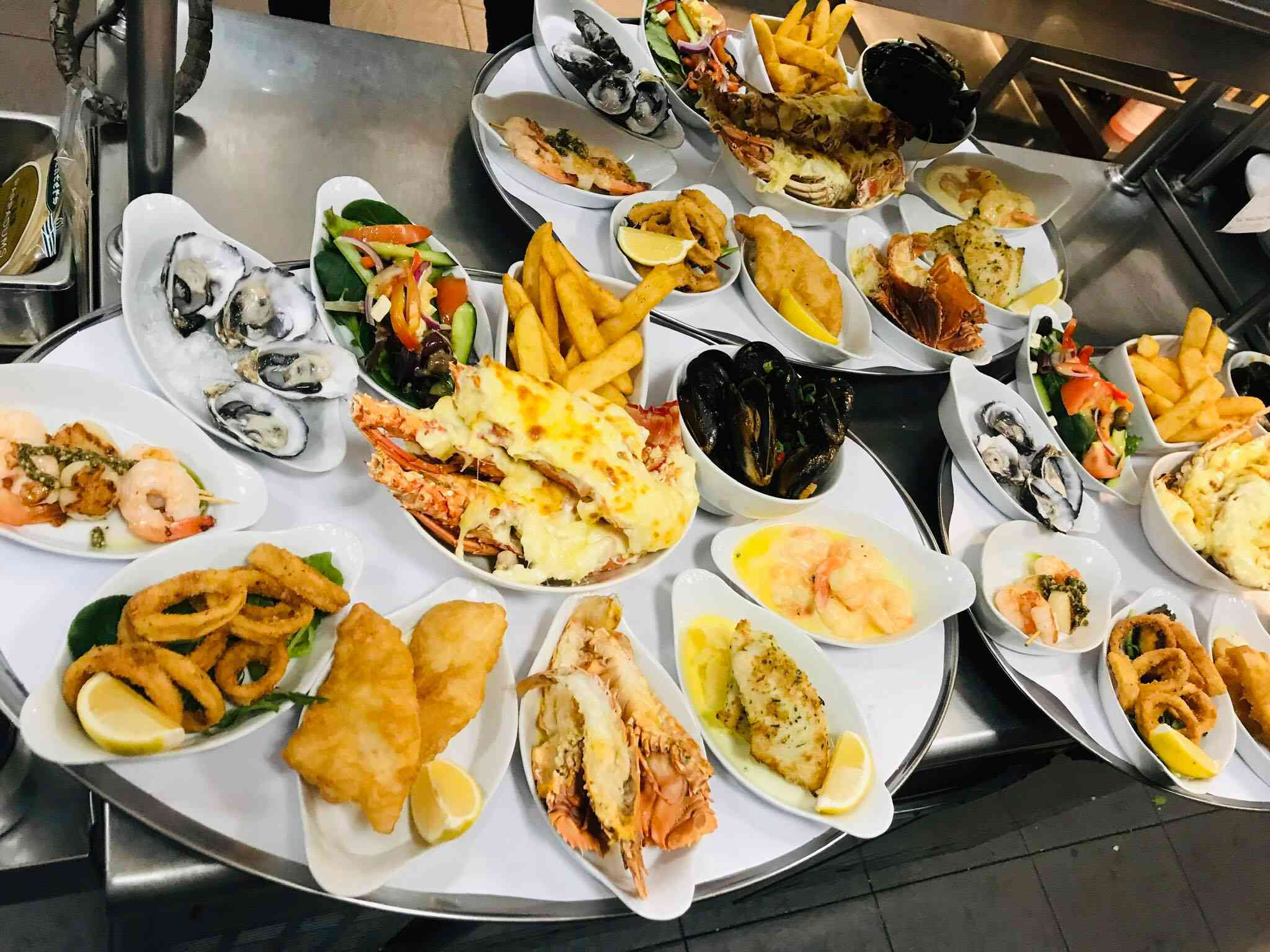 Seafood platters at the Cray