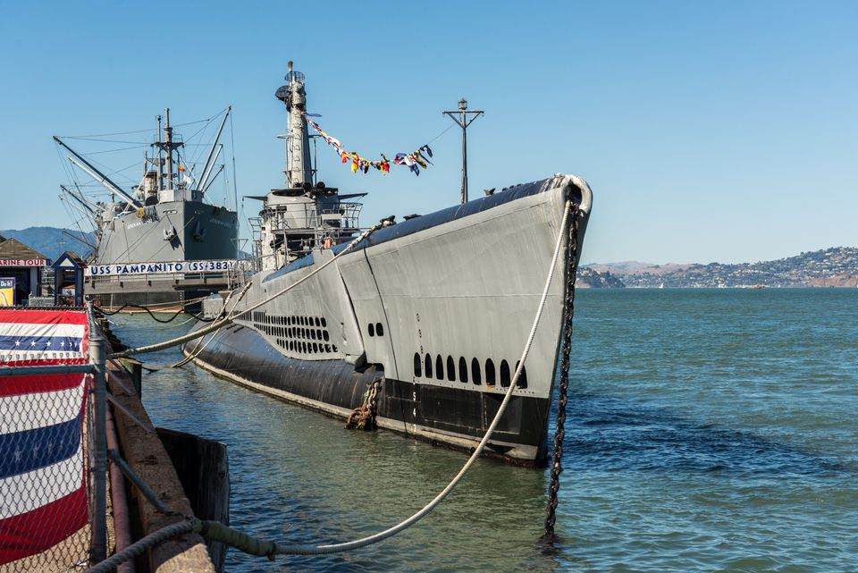 submarine USS Pampanito near Pier 39, San Francisco