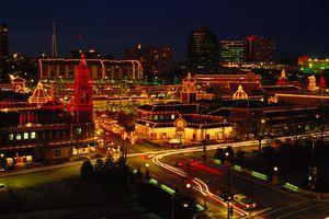 Kansas City Plaza at Christmas