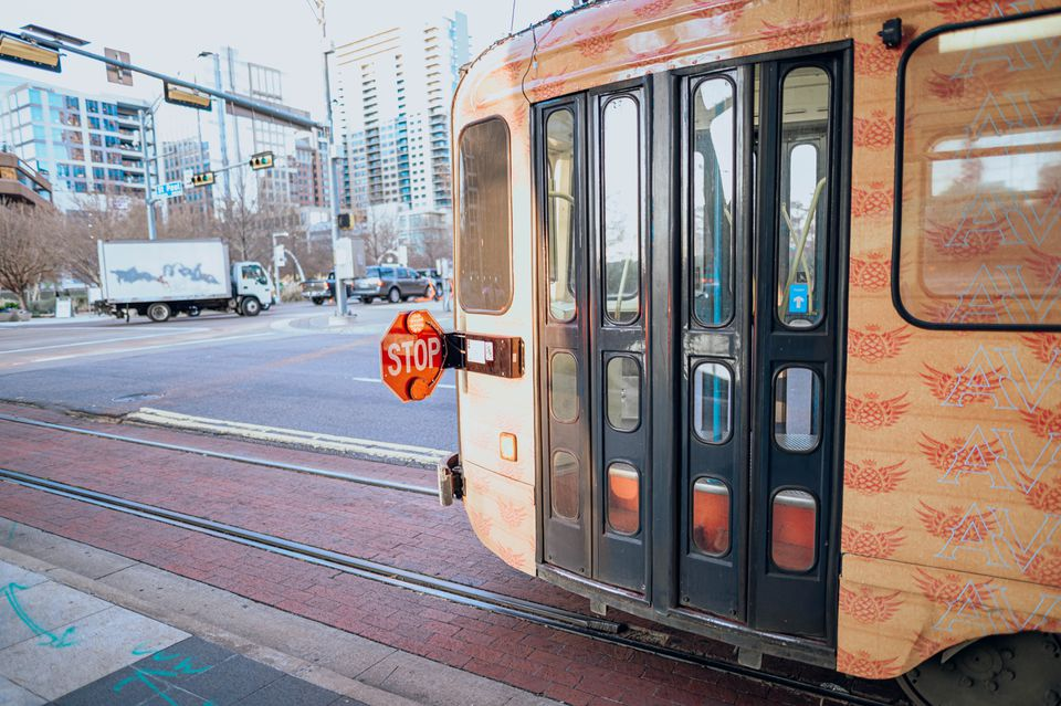 McKinney Avenue Trolley in Dallas, Texas