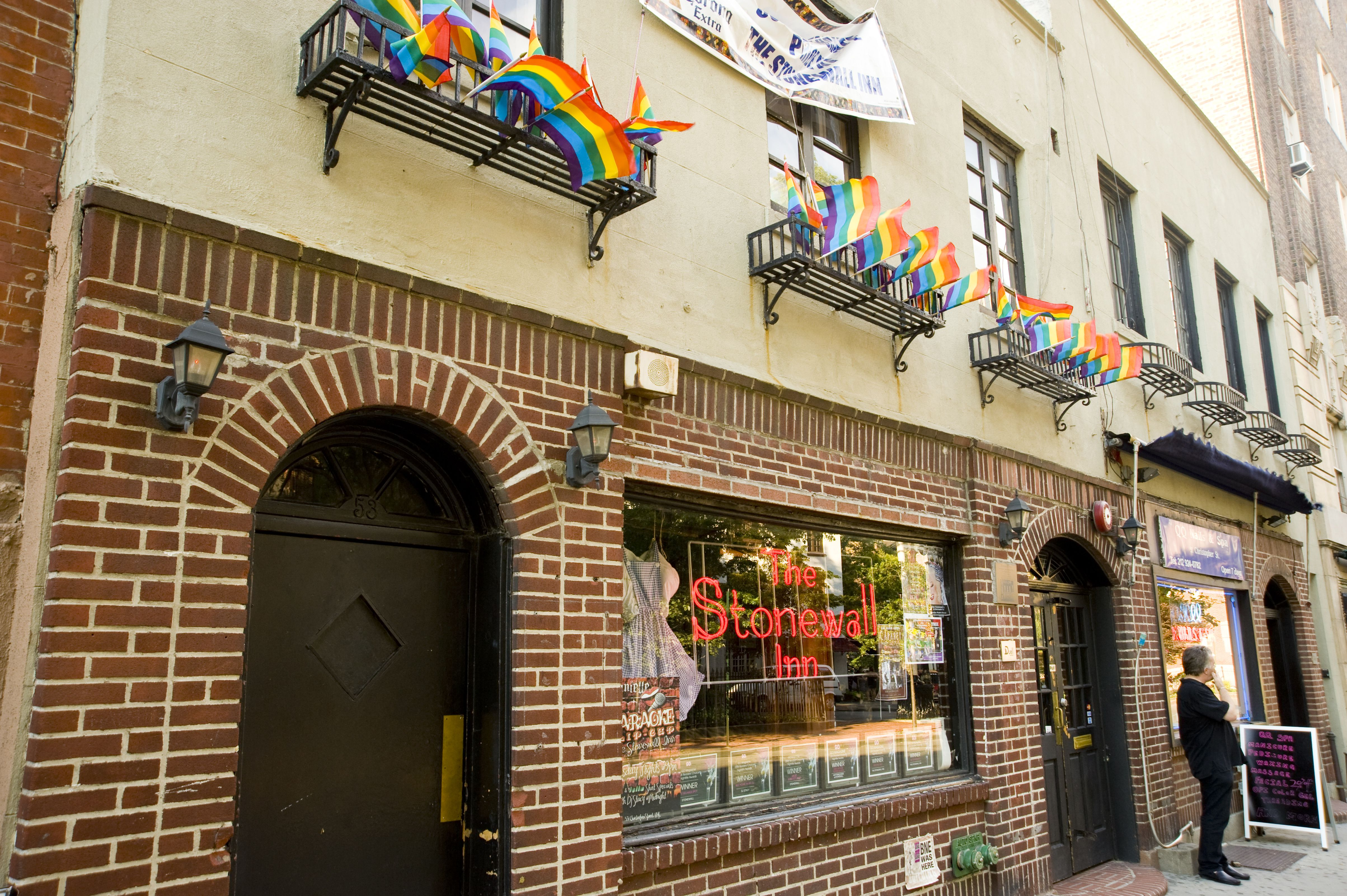 Exterior of The Stonewall Inn at 53 Christopher Street in Greenwich Village.