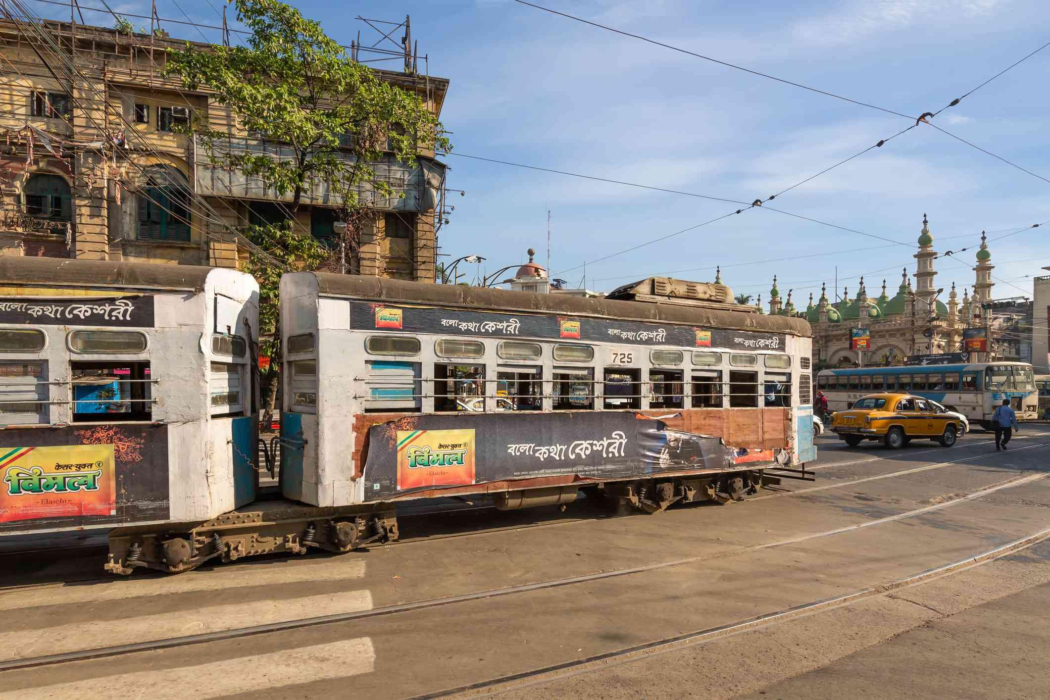 Tram in Kolkata.