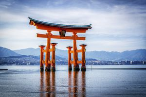 Miyajima, Japan, The Great Torii of Itsukushima shrine