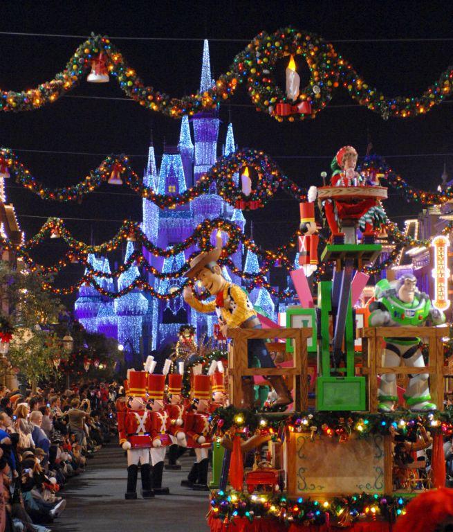 mickeys very merry christmas parade photo courtesy of walt disney world resort - Disney World Christmas Lights