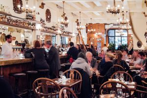 Montreal's best bars include downtown bistros and brasseries like Taverne Square Dominion