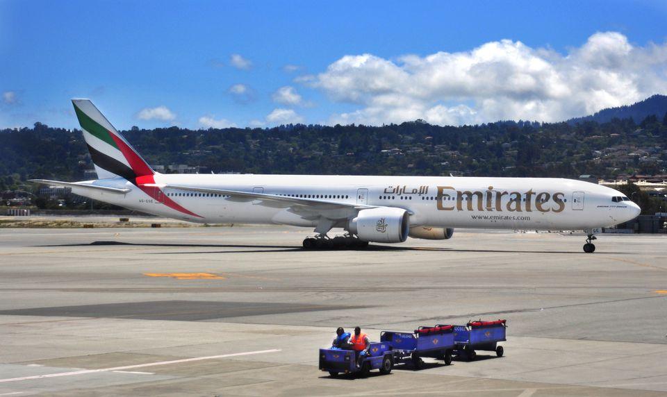 Emirates' Boeing 777-300ER.