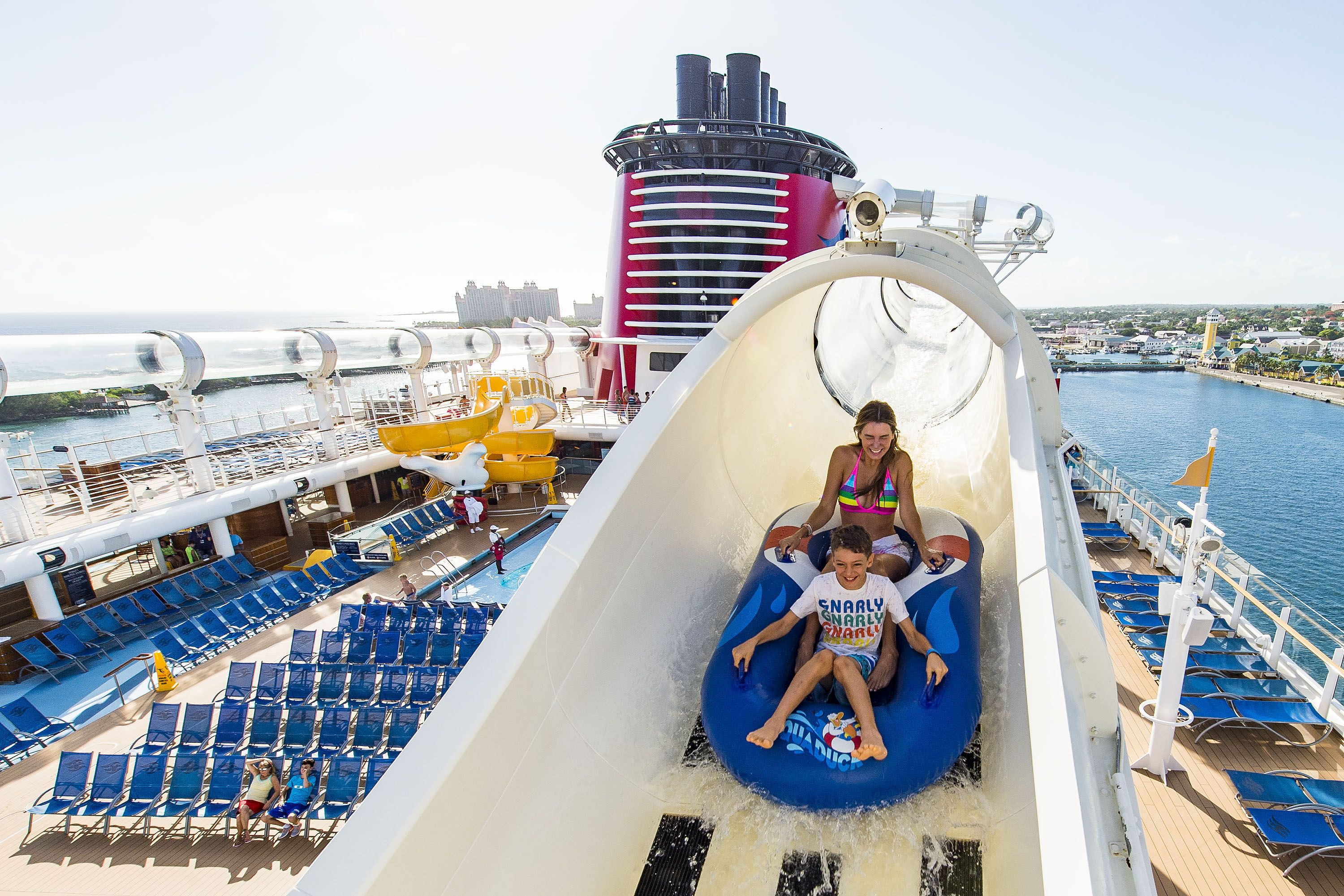Aquaduck Water Coaster On The Disney Dream Cruise Ship