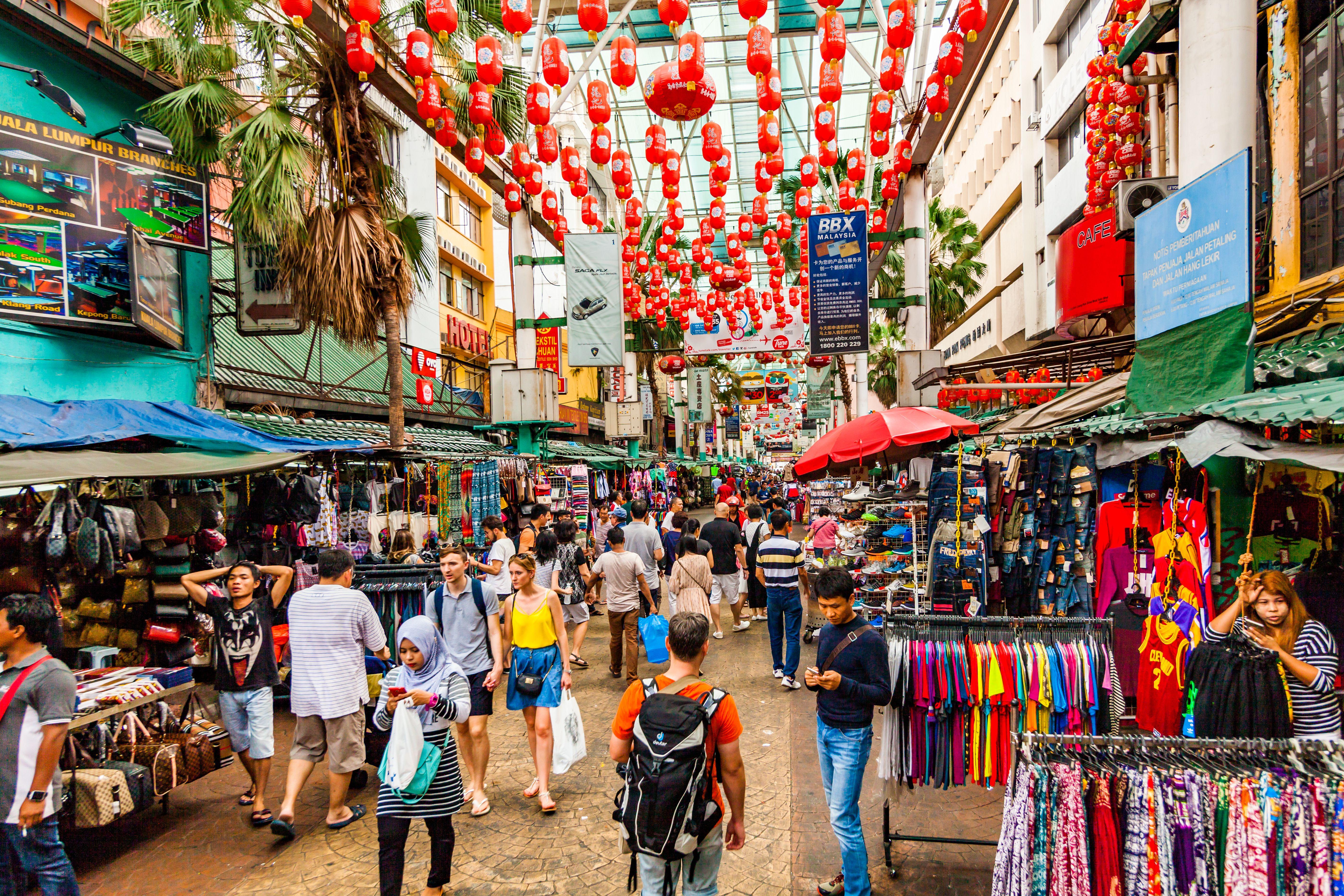 Walking street in Chinatown Kuala Lumpur