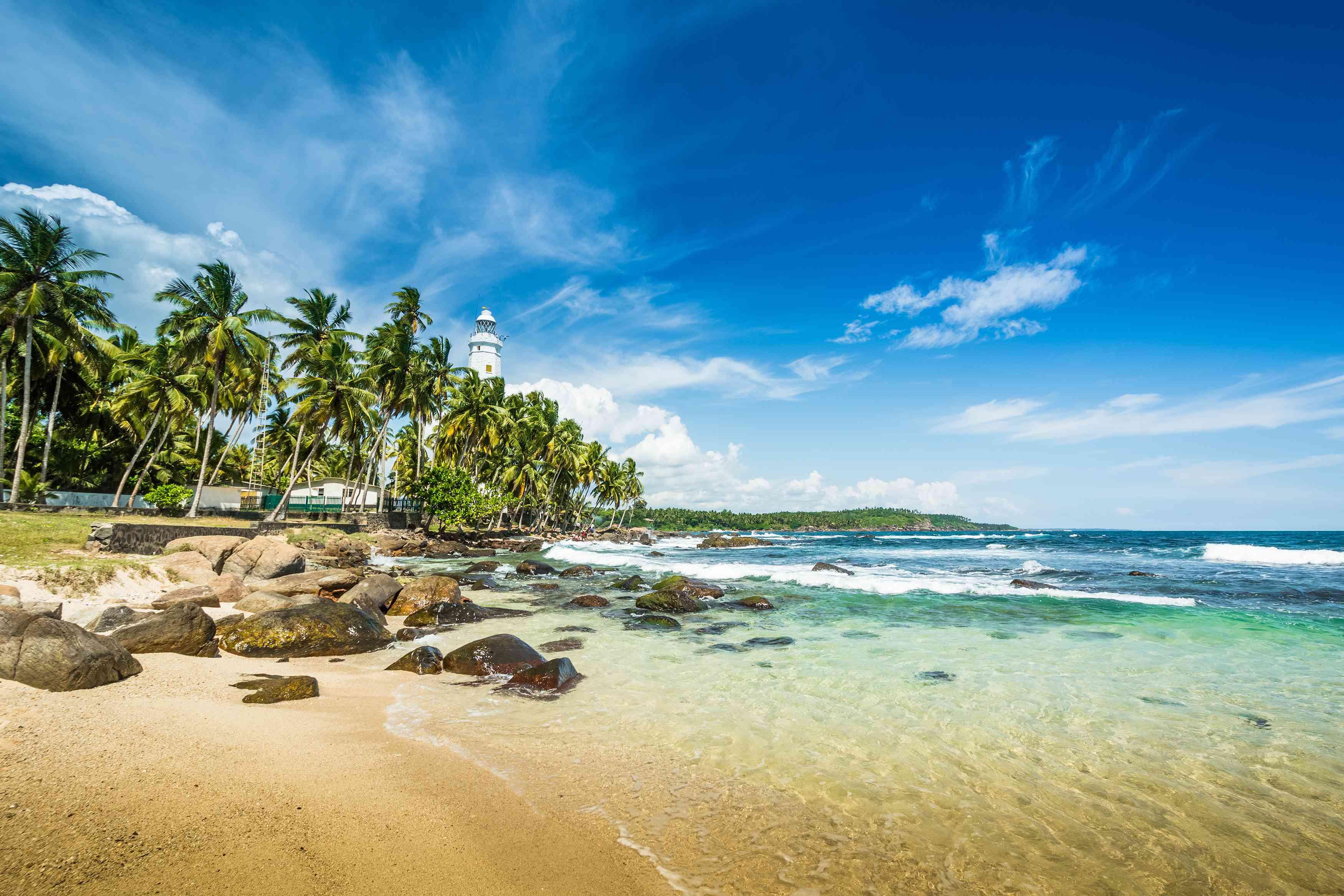 Blue water and sky at Arugam Bay, Sri Lanka