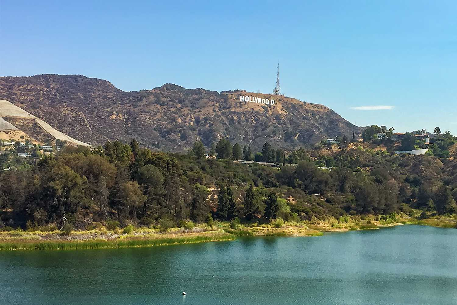 Hollywood Sign and the Hollywood Reservoir