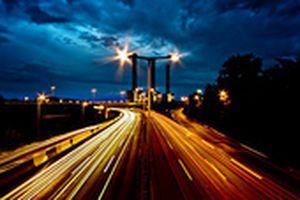 German Autobahn at night