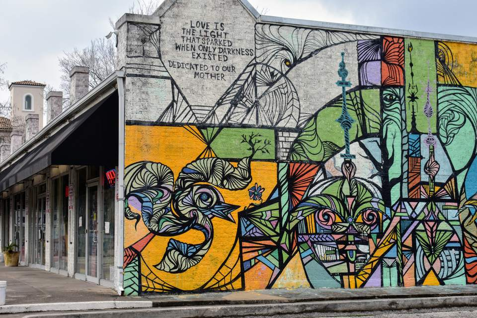 Street mural in Montrose