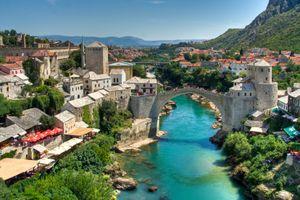 River Neretva and city of Mostar