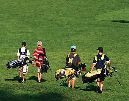young golfers at Hershey