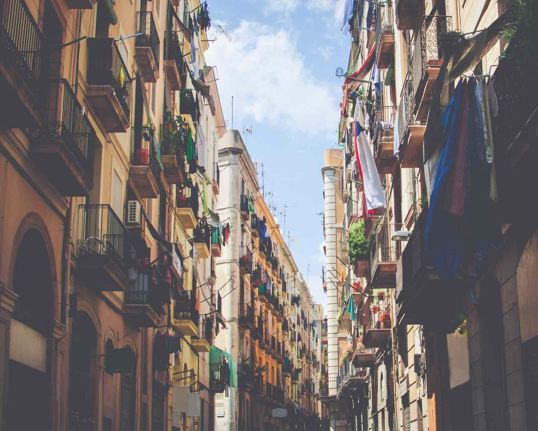 A street in the Raval neighborhood of Barcelona.