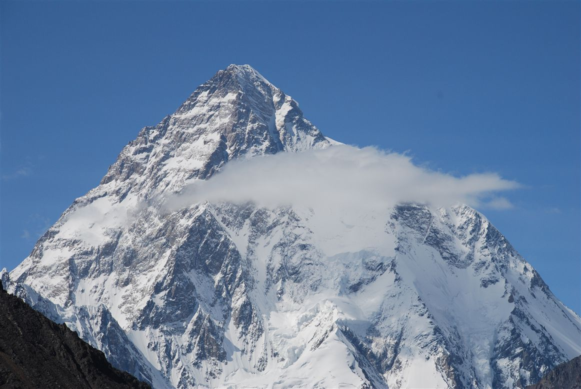 view of snowy peak from K2 Base camp
