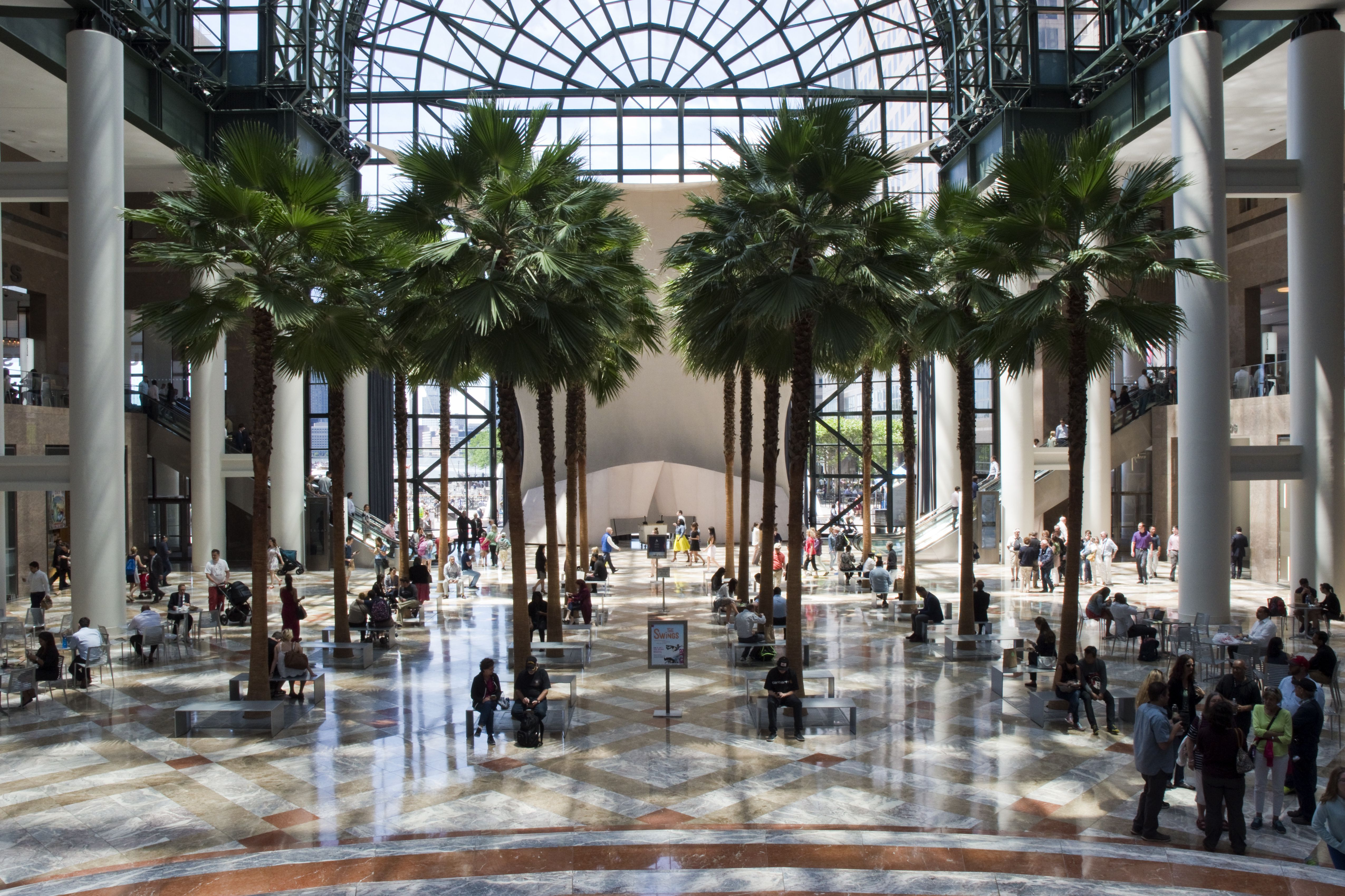 interior of brookfield place shopping center
