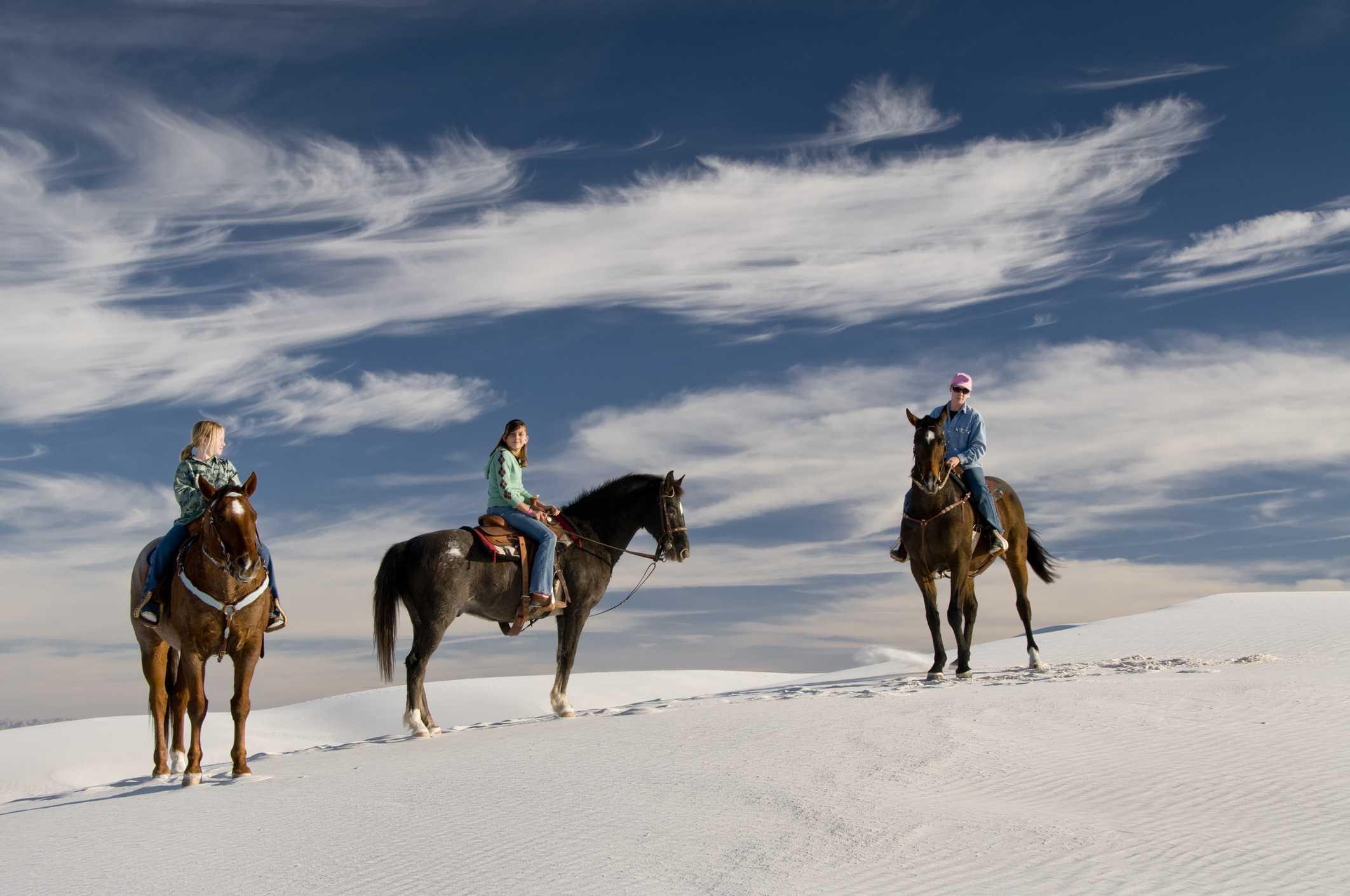 jinetes en White Sands NM