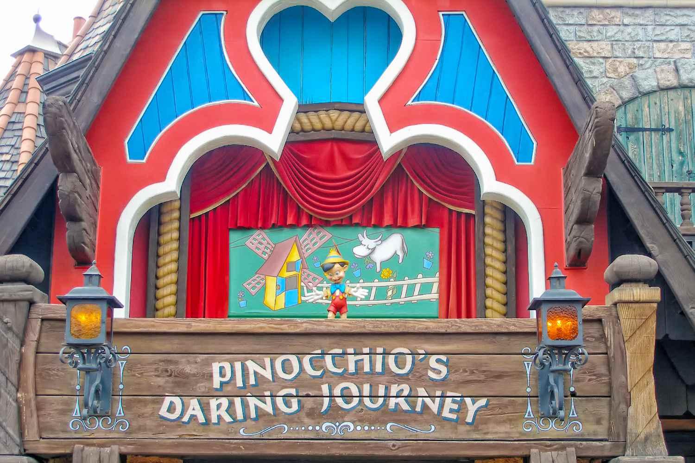 Entrada al viaje atrevido de Pinocho