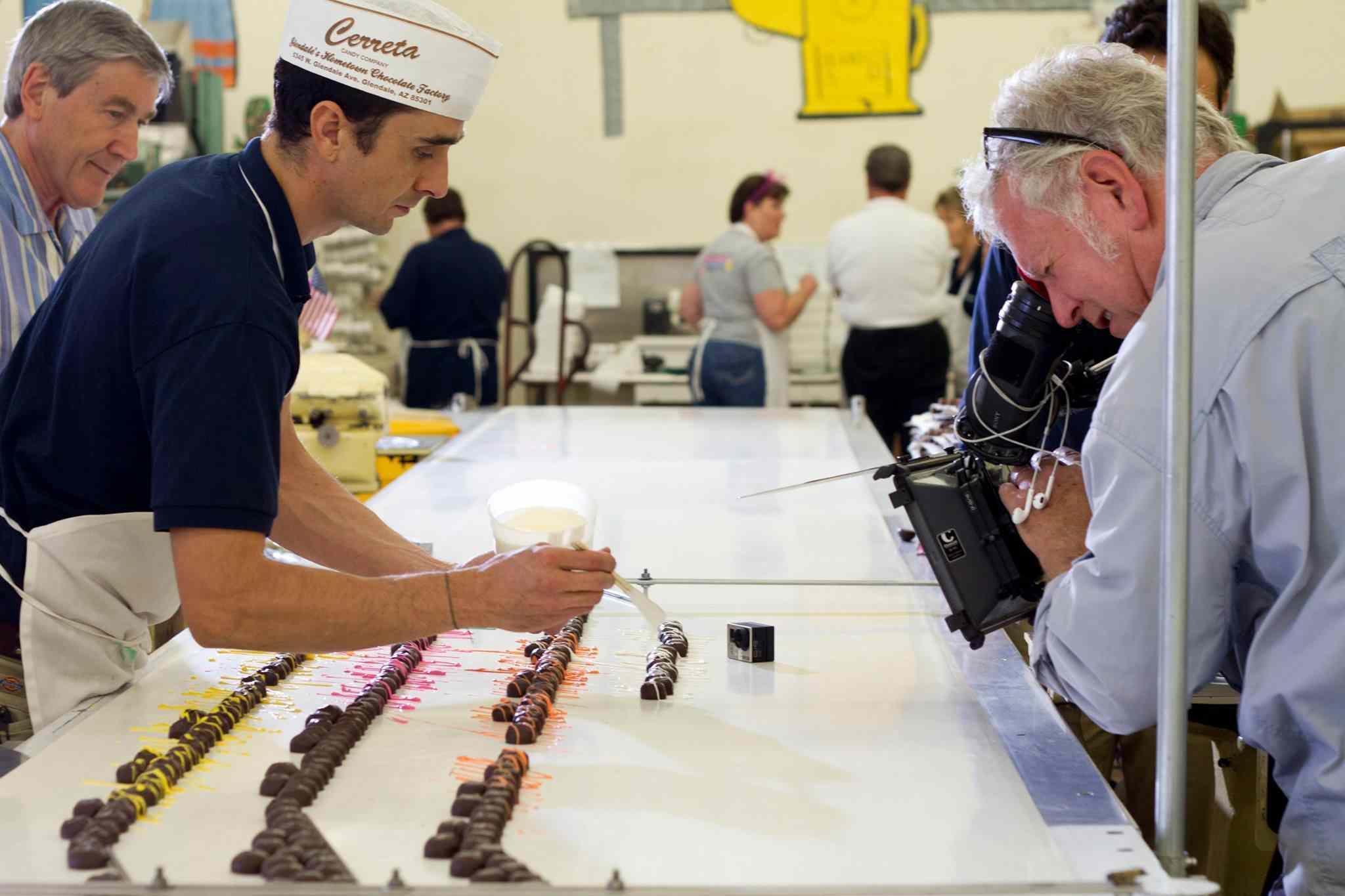 Making chocolates at the Cerreta Candy Company