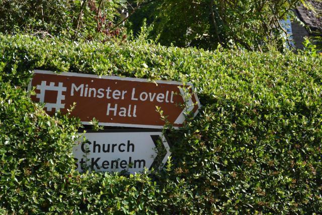 Minster Lovell Hall Sign