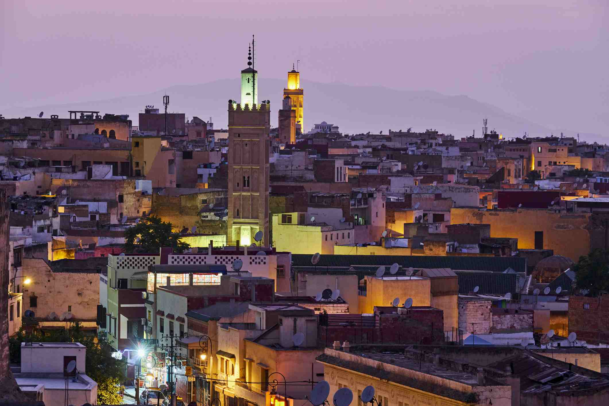 The medina of historic Meknes, an imperial city in Morocco