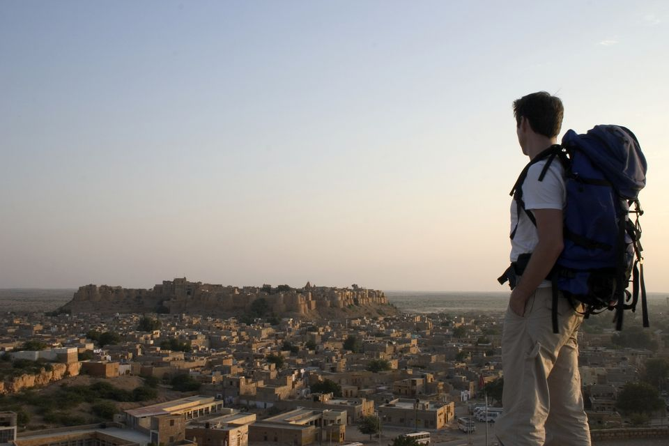 Backpacker in Jaisalmer.