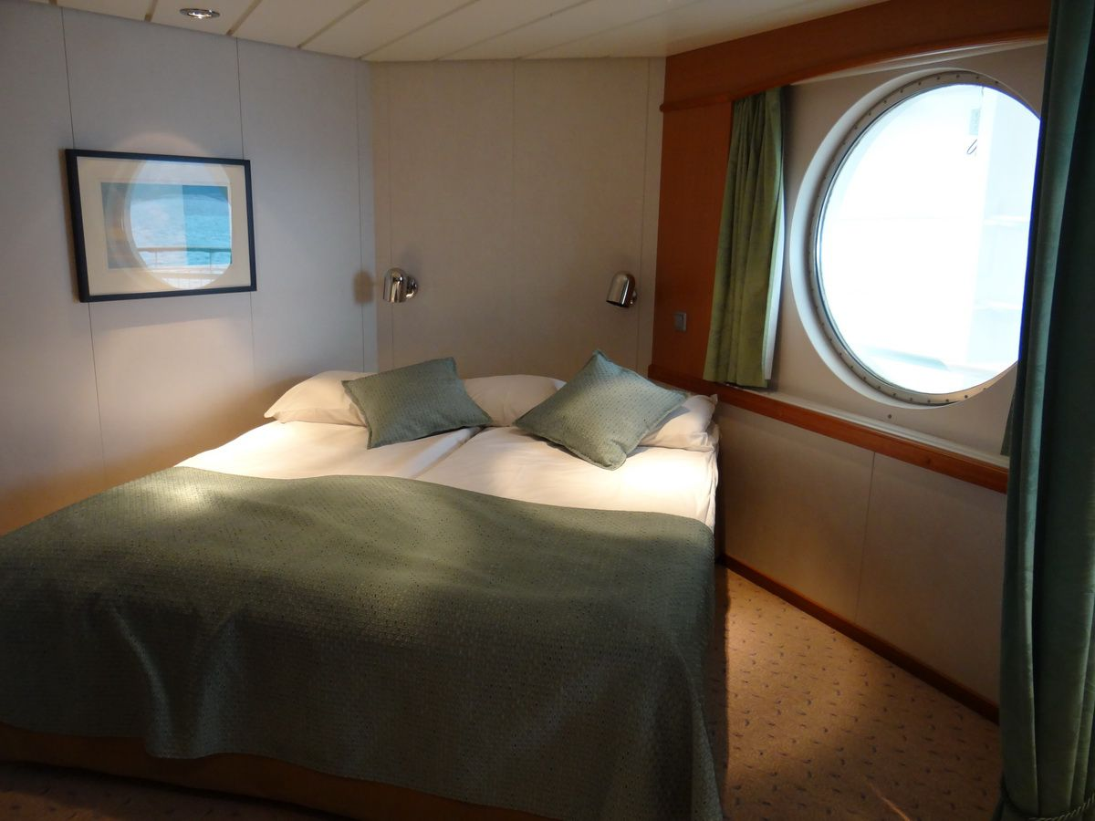Midnatsol Mini-Suite Sleeping Area - Hurtigruten Coastal Liner Accommodations