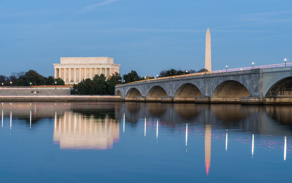 Arlington Memorial Bridge Night View